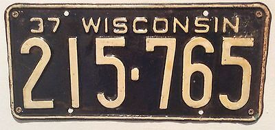 CLEARANCE Rare Genuine Vintage American Metal Car Licence Number Plate Wisconsin
