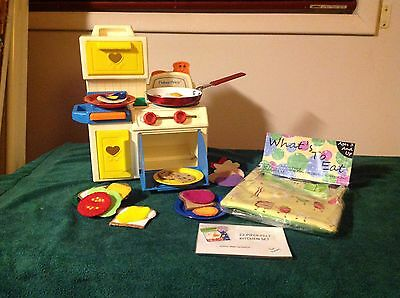 WHAT'S TO EAT.    Felt Food Playset For Children