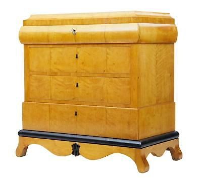Late 19Th Century Biedermeier Influenced Birch Commode