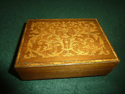 Small 13cm Reuge Marquetry Music Box For Restoration