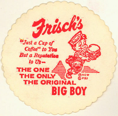 Two 1960's  Frisch's Big Boy Coasters Free Shipping !