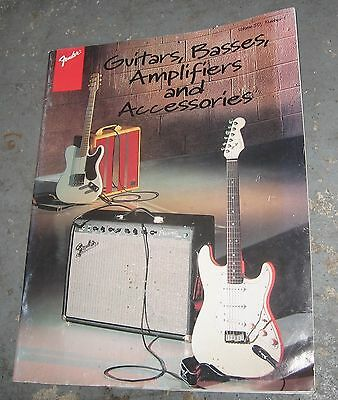 """1996 Fender """"Guitars, Basses, Amplifiers and Accessories"""" Catalog"""