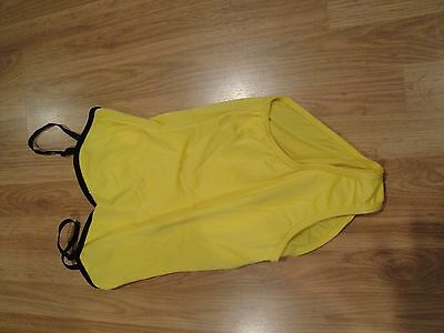 Woman's size small yellow dance /  gymnastic leotard Costume Gallery lined front
