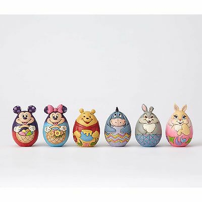 Disney Mini Character Eggs Set of 6 Jim Shore Easter Mickey Mouse Winnie Pooh
