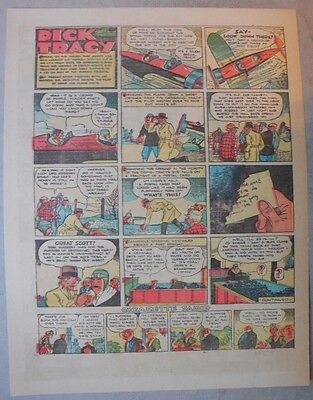 Dick Tracy Sunday by Chester Gould from 3/26/1933 Tabloid Page Size!