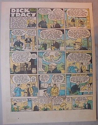 Dick Tracy Sunday by Chester Gould from 3/5/1933 Tabloid Page Size!