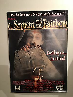 Wes Cravens The Serpent And The Rainbow - Large Video Shop Poster Original