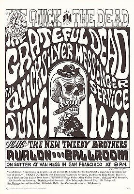 Grateful Dead Quicksilver 1966 FD 12 QUICK & THE DEAD Family Dog Poster