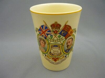 Vintage Royalty 1910 Accession1935 Jubilee King George V Queen Mary Mug Cup