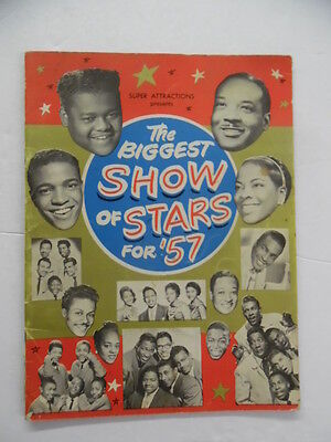 1957 BIGGEST SHOW OF STARS FOR '57 Program Rock n' Roll Chuck Berry Fats Domino