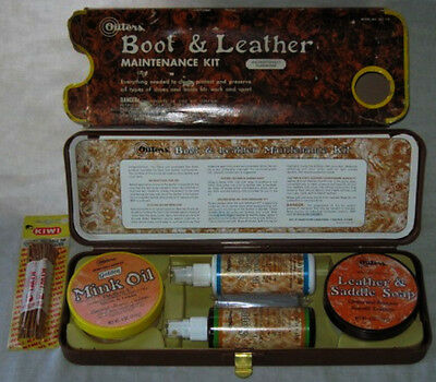 Vintage NOS Outer's Boot & Leather Waterproofing Maintenance Kit*1978*OLC 113*NR