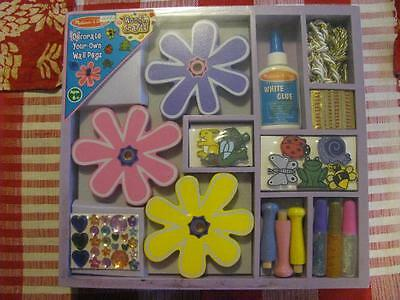 Vintage Melissa & Doug Wooden Crafts Decorate Your Own Wall Pegs New in Box #DTI