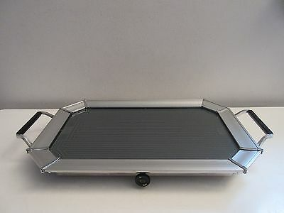 Vtg Midcentury Modern Salton Hotray Automatic Food Warmer Glass Top Tray