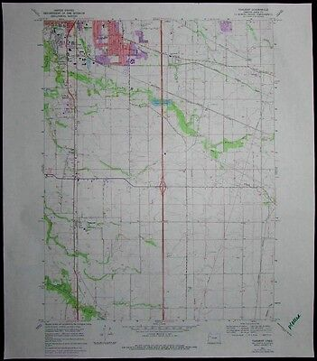 Tangent Oregon Albany Calapooia River vintage 1978 old USGS Topo chart