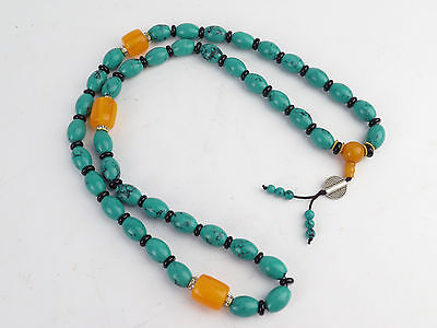 Antique Vintage Turquoise Prayer Beads 19 inches