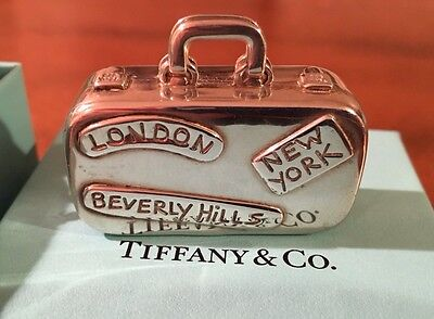Tiffany & Co Silver Suitcase Luggage Travel Pill Box!