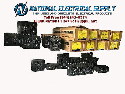 Square D EDB34050 3 Pole 50 Amp 277/480V 3 PH New 1 Year Warranty