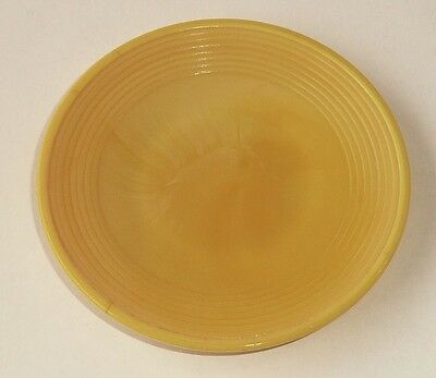 Akro Agate Small Concentric Ring / Stacked Disc Glass Yellow Plate ~ 4 Available