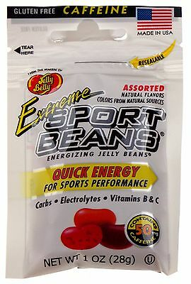 Jelly Belly Extreme Sport Beans Lot 12 Bags Caffeine Quick Energy Carbs Made USA