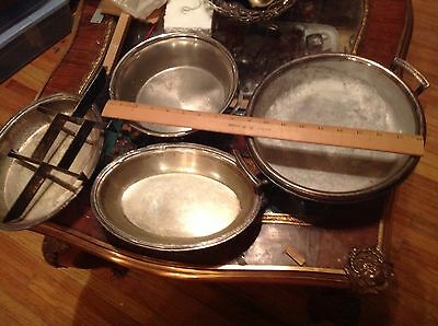 Large lot of silverplate serving dishes,mixed quality and conditions