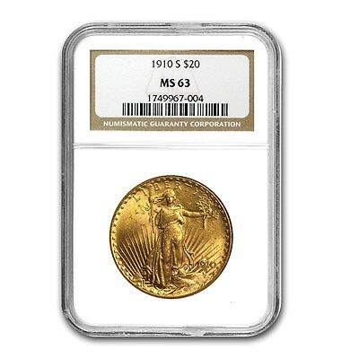 1910-S $20 St. Gaudens Gold Double Eagle MS-63 NGC - SKU # 10619
