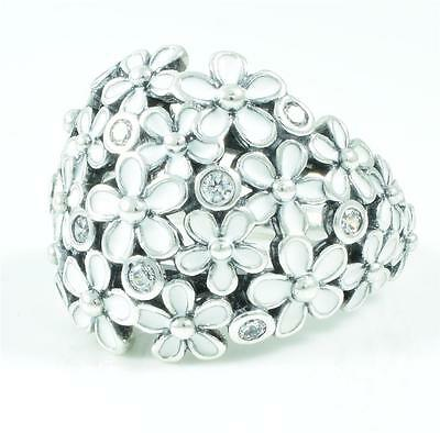 Authentic Genuine Pandora Silver Darling Daisy Bouquet Ring- 190936EN12-52
