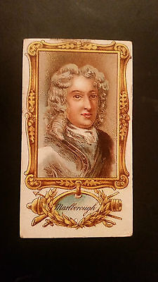 JOHN PLAYER 1898 cigarette card ENGLANDS MILITARY HEROES Duke of Marlborough