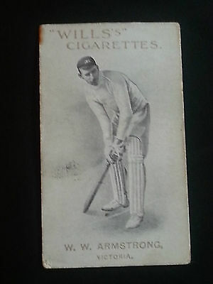 WILLS 1911 cigarette card AUSTRALIAN ENGLISH CRICKETERS Armstrong VICTORIA