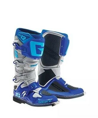 Gaerne Blue Gray SG-12 SG12 Men's Size 10 Offroad MX Boots 2174-033-010