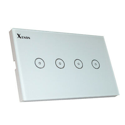 Xenon WiFi smart 4gang Wall Switch Wireless remote control US Touch switch panel