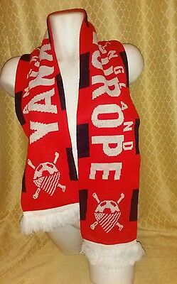 Scarf Soccer America To England Outlaws 150 Yankes In Europe Rare