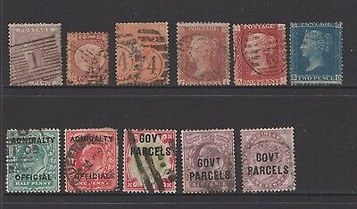 Great Britain   Queen Victoria Stamps  With   Govt Parcels  Admiralty