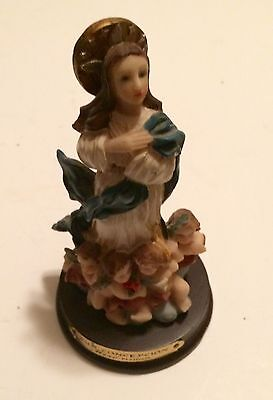 "Immaculate Conception  Mary  Statue Miro 6"" Inch"