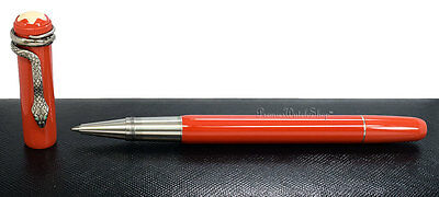 NEW Mont Blanc Heritage Rouge & Noir Special Ed. Roller-Ball Pen Coral 114726