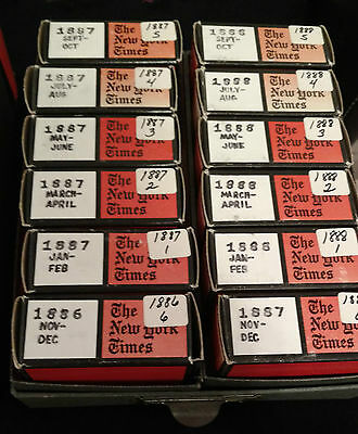 New York Times Microfilm (1869-1999) ONE REEL - you choose the date
