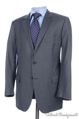 BROOKS BROTHERS Fitzgerald Gray Striped 100% Wool Jacket Pants SUIT Mens - 43 R