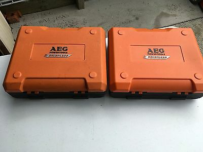 2 x AEG empty 18v drill driver tool cases case only
