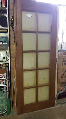 Wooden and glass entrance door