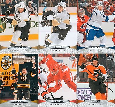 2011 2012 Upper Deck NHL Hockey Complete Mint Basic Series 1 and 2 Set 400 Cards