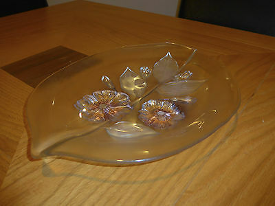 Lovely Glass Floral Plate Dish