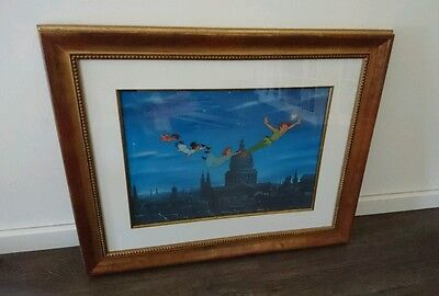 DISNEY CEL Peter Pan Flying Over London Limited Edition hand painted