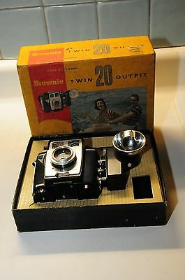 Brownie Twin 20 Camera Outfit in Original Box