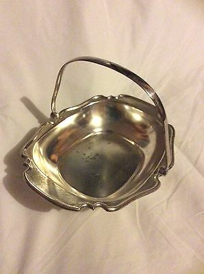 Antique Silver Basket Hardy Brothers Ltd  Made In England Stamped Numbered