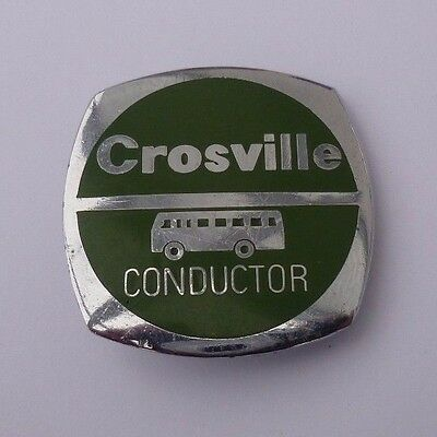 """Crosville Motor Services Enamel And Chrome """" Conductor """" Uniform Badge"""