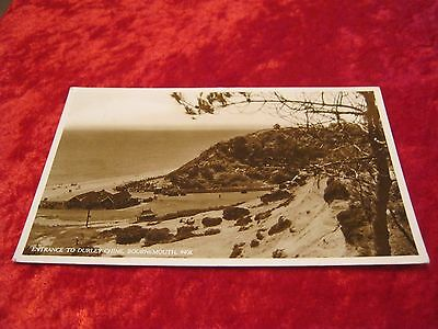 Postcard Entrance to Durley Chine, Bournemouth