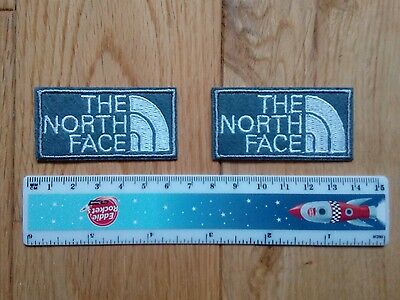 2 x The North Face  Embroidered Logo Iron/Sew-on Badge  NEW