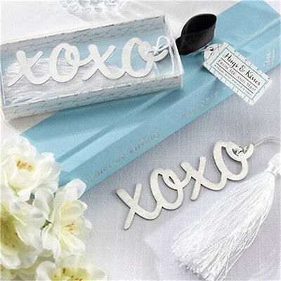 Creative XOXO Exquisite Alloy Bookmarks With Ribbon Box Cute Gift