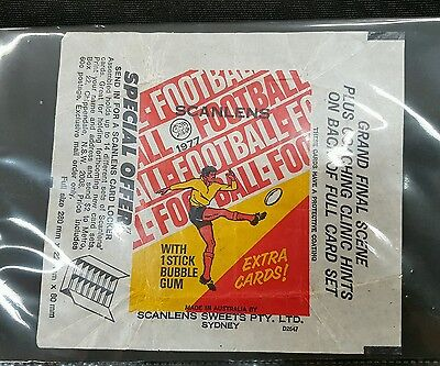 1977 NRL VFL Scanlens Rugby League Football Wrapper Great to add to cards set!