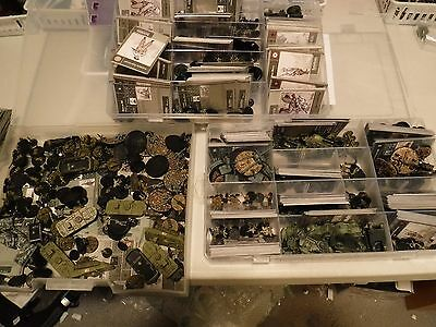 Axis and allies miniatures 20 German minis, with  cards, great army builder