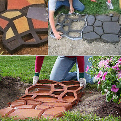 Hot Paving Mold Garden Patio Concrete Driveway Stepping Stone Cement Molds UK